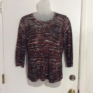 Jones New York Multi-colored Knit Sweater